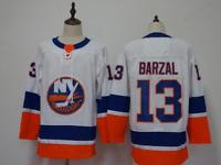 Mathew Barzal New York Islanders #13 stitched jersey white/blue men's player