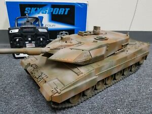 Use Tamiya RC 1/16 Leopard 2A6 Full Option w/ DMD Control Unit Tank Futaba RTR