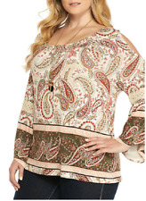 e1b8afd75f4ed  15.99 New. Directions Stretch Knit L s Crochet Inset Bell Sleeve Cold  Scoulder Top 3x