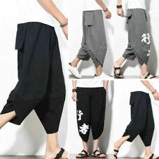 Pantaloni da uomo capri in cotone
