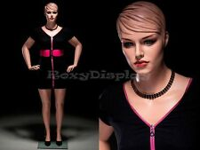 Plus Size Female Fiberglass Mannequin with Molded Hair Dress form #Avis2-Mz