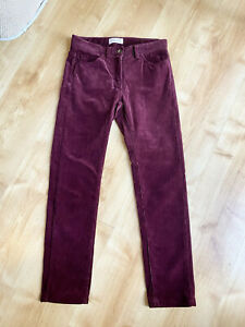 Toast Maroon Corduroy Trousers Size 8 Cropped Autumn Cords