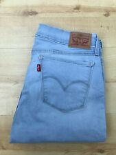 Women's Levi's 710 Super Skinny Light Blue Jeans W31 L28 (#A838)