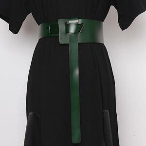 Women's Genuine Leather Wide Corset Waist Cinch Belt