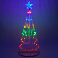 LED Outdoor Christmas Light Show Motion Tree Multi Color 3D Display Decor NEW