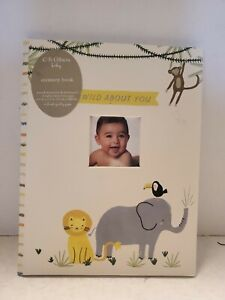 WILD ABOUT YOU  CR Gibson First 5 Years Baby Album / MemoryBook / Keepsake NEW
