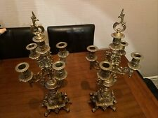 More details for candle stick holders brass