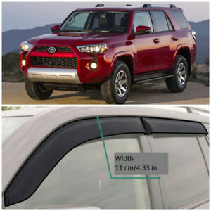 TE210609 Window Visors Guard Vent Wide Deflectors For Toyota 4Runner 2009-