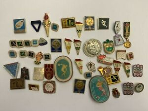 USSR Olympic Badges Olympic Games 1972, 1980 Munich Set of 50 Soviet Badges Icon