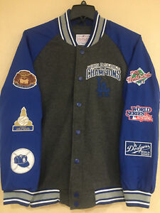 LA Dodgers 6X World Series Champions Jacket -Power Hitter Varsity Jacket MLB Lic