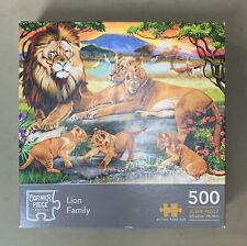 Lion Family - 500 Piece Jigsaw Puzzle by Corner Piece.