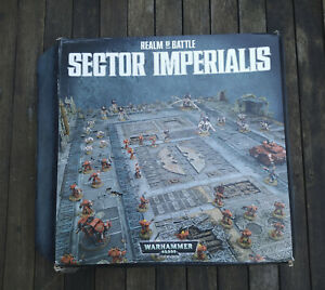 Warhammer 40k Realm of Battle Sector Imperialis Terrain, 4ftx6ft, Painted