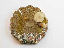 Vintage Souvenir Hawaii Lucite Acrylic Soap Trinket Dish Sea Shells 1974