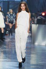 H&M studio collection blanc cassé satin pantalon pantalon uk 12 eur 38