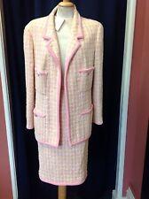 Chanel Boutique Pink & Lemon Skirt Suit