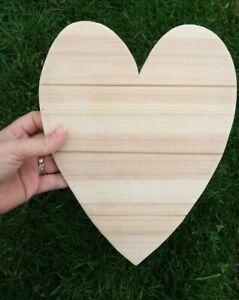 Large Pine Wooden Heart 25 cm x 19.5 cm Plain DIY Craft Blank Decoration Plaque