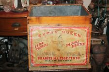 Antique Gypsy Queen Japan Tea Wood Crate Francis H. Leggett Co. NY Large Box