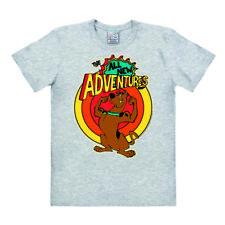 Logoshirt-Cartoon-Scooby Doo-Chien-Scooby-Doo aventure-T-shirt gris