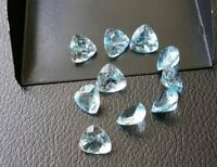 Lot 3x3mm To 10x10mm Trillion Faceted Cut- Natural Sky Blue Topaz Loose Gemstone