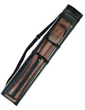 2X2 Hard Billiard Pool Cue Stick Carry Case Brown Black