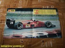 Gerhard BERGER (Ferrari 1988/89) - CZE mini poster cca 2xA4+ Format, RAR!