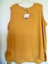 Anne Klein Women Plus Size Top Shirt Blouse Size 3X Marigold Color