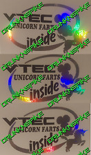 Mighty VTEC Unicorno scoregge all'interno MAREA NERA Adesivo tritate HONDA CIVIC TYPE R