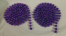 Garland, Purple, 9ft, 3/4in bead, Lot of 2