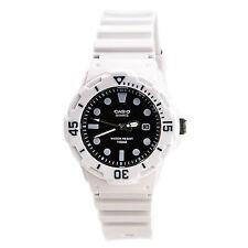 Casio LRW200H-1E Ladies 100M Divers Sports Watch Analog 100M White W/ Black Dial