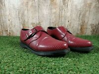 Mens Dr Martens  Miller Monk Strap Burgundy Snake-print Shoes Size 6 UK 39 EUR