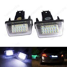 2x LED License Number Plate Lights Bulbs For Peugeot 206 207 307 308 406 407
