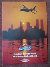 1983 PLAQUETTE PUB CASA NURTANIO CN-235 AVION AIRCRAFT NEW-YORK TWIN TOWERS WTC