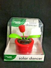 Solar Power Dancing Toy Flower For Home Car Décor Gift Red Pot