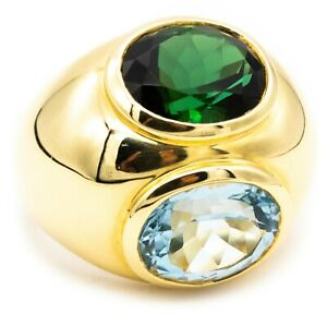 TIFFANY & CO BY PALOMA PICCASO 18 KT COCKTAIL RING 12 Ct AQUAMARINE TOURMALINE