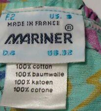 Nos Vtg Mariner France Geometric 100% Combed Cotton Bikini Briefs S Oldstock