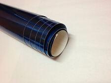 1m x 1.5m BLU SPECCHIO CHROME VINILE WRAP AUTO Adesivo Decalcomania Pellicola (Bolla Gratuito)