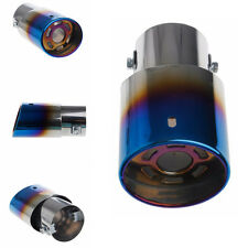 Universal Snowflake Outlet Car Exhaust Round Tail Pipe Muffler Tip Blue 36-62mm