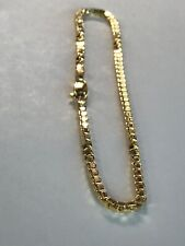 10k ITALY Yellow Gold Box Link Ankle Bracelet Chain Anklet Ladies Women Teen