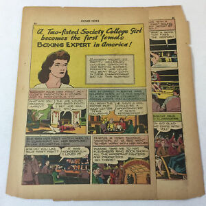 1946 three page cartoon story ~ MARGERY MILLER, BOXING EXPERT