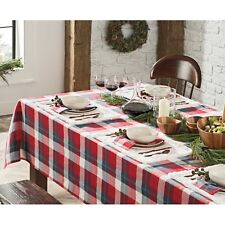"""UGG  60"""" X 120"""" Camper Plaid TABLECLOTH Red White Blue Navy Green"""