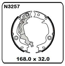 Kia Rio JB 1.4 1.5 & 1.6L Disc/Disc 2006 onwards REAR Handbrake Shoe SET N3257
