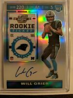 2019 Panini Contenders Optic Will Grier Rookie Ticket Holo Auto Silver On Card