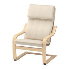 Ikea poang enfants bouleau chaise fauteuil avec tissu coussin blanc nouveau