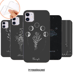 PERSONALISED PHONE CASE COVER SILICONE NAME INITIALS FOR APPLE IPHONE 11 8 7 XR