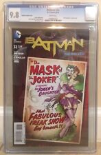 "BATMAN #32 D.C. GCG 9.8 ""THE MASK OF THE JOKER"" THE NEW 52 BOMBSHELL"" VARIANT"