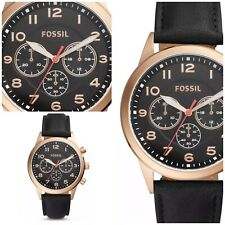 Fossil Pilot Chronograph Leather Band Men's Watch BQ2283 NWT