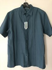 Men's Cubavera Linen Cotton Size M Tapestry Mexican Wedding style SHIRT NWT $68