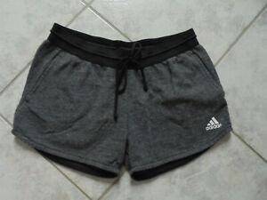 Bequeme kurze Sporthose/Fitnesshose von ADIDAS, Sweat Shorts, Gr.M 38/40, grau