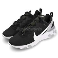 Nike React Element 55 Black White Grey Men Running Shoes Sneakers BV6668-011