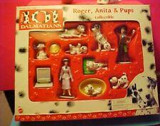 Vintage Disney 101 Dalmatians playset with Roger Anita and pups